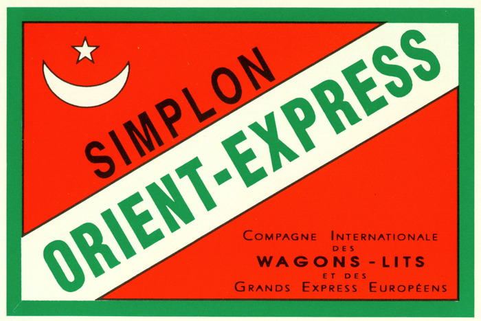 A luggage sticker from the original box