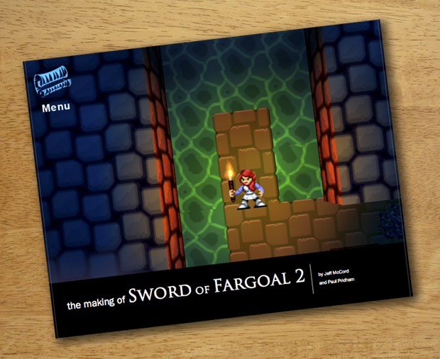 "Concept cover art for ""The making of: Sword of Fargoal 2"" book (Kickstarter exclusive)"