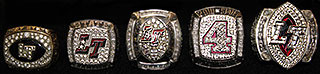 The Five High School State Football Championship Rings