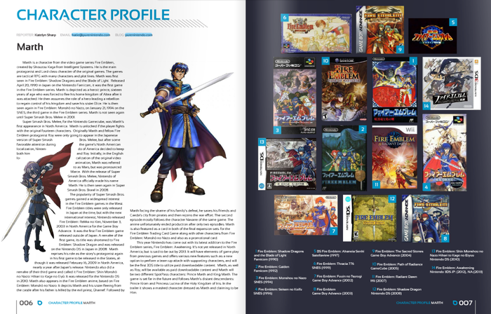 Character Profile on Marth