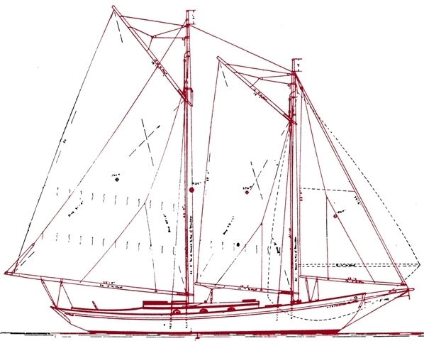 The 1922 Malabar II Sail Plan