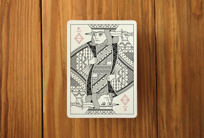 A mock up of a King card. The King of Diamonds.