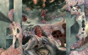 "Aesthetic Cataclysm  - ""Malformography Triptych"" - Oil on Panel - 2011"