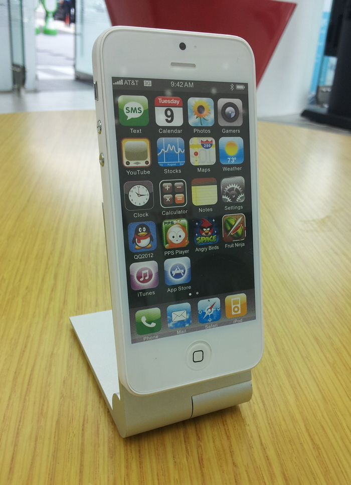 iPhone5 on the zyroshell cradle