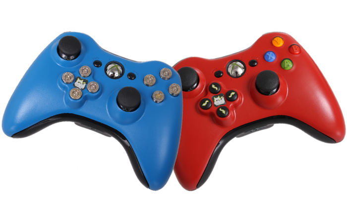 Red and Blue Evil D-Pads are currently available in these color.