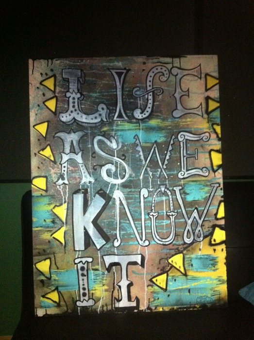 "Original Painting from the ""Life As We Know It"" Video"