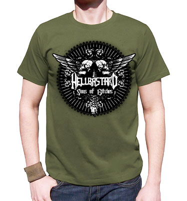Hellbastard T-shirt (Olive or Brown)