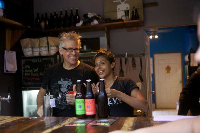 Welcome to Craft Beer Paradise - Co-Founder Andy and our Lead Trainer Rosyta