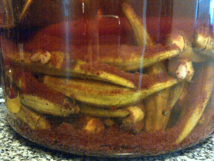 Spicy Okra Spears