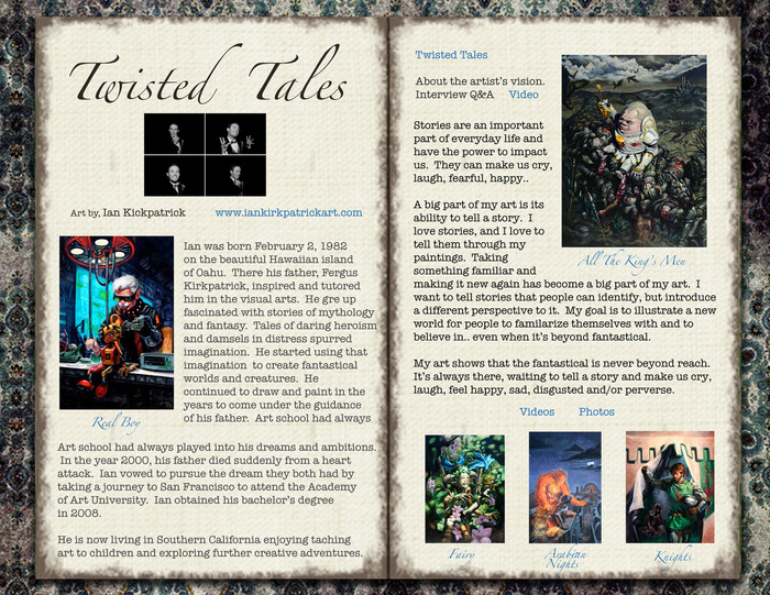 This is a sample page of Gypsy Trails Gallery's first Trailblazer, Ian Kirkpatrick.