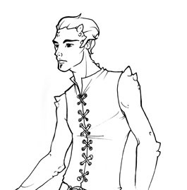 Samiel Aziz - Minister of Affairs / Alish's main love interest. (Image drawn by Carla Wyzgala)