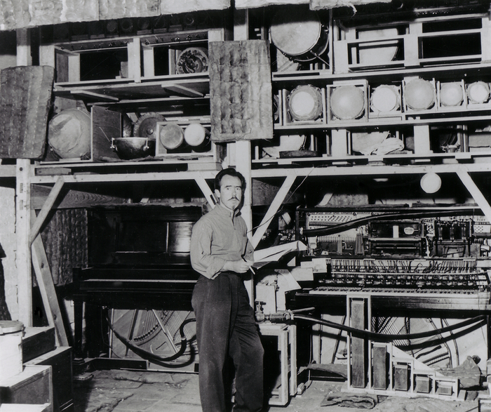 Conlon Nancarrow in his Mexico City studio