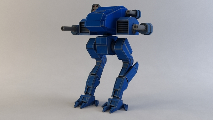 Warp Raider light mech, textured