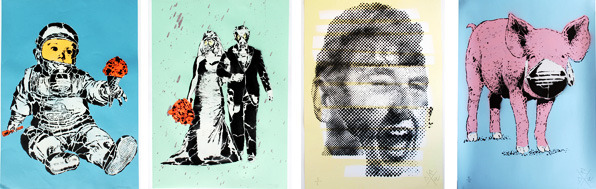 Examples of artwork by Stencil Land & rundontwalk