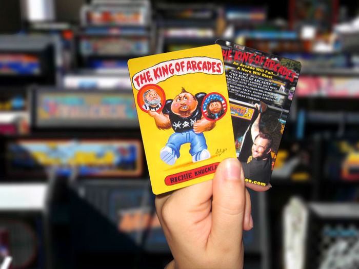 Promotional Garbage Pail Kids style cards featuring art from world-renowned artist Joe Simko.  Only our Kickstarter backers will be able to obtain these bad boys.