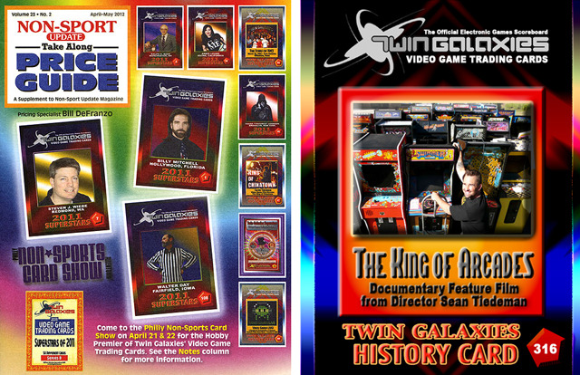 Get your hands on a limited edition 'The King of Arcades' official Twin Galaxies trading card.  These will only be available to our fellow Kickstarter supporters.  The card on the right is the card that you will receive.