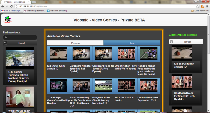 And the list of comics and videos to make them