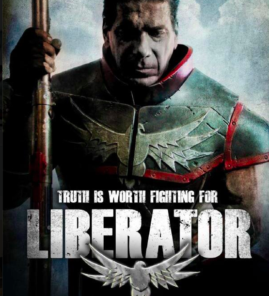 "Lou Ferrigno in ""Liberator"" costume fabrication by Robert Miller"