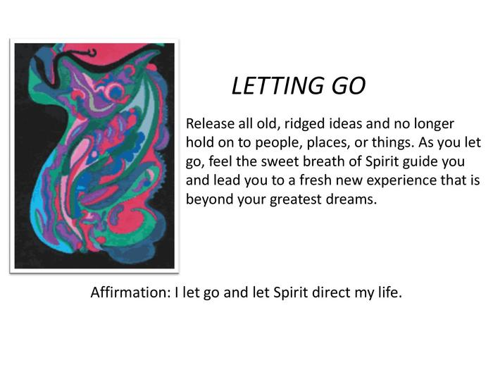 """Letting Go""unleashes fear."