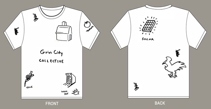 T-shirt design #2 Grin City Landscape (all size available) $25 level