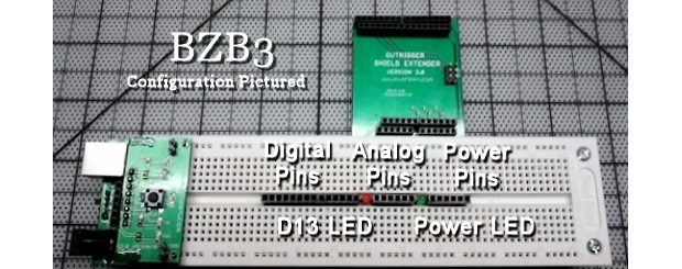 The BZB3 is the most feature rich BizzyBee Breadboard configuration.