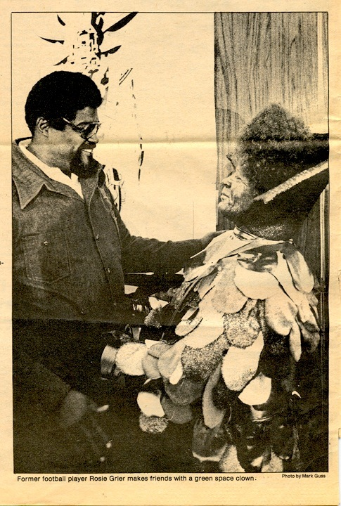 Football legend & actor Rosey Grier at the 1979 Science Fiction Land press conference