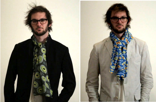 Nick:  Men's (or ladies) Cotton Voile double-sided scarf