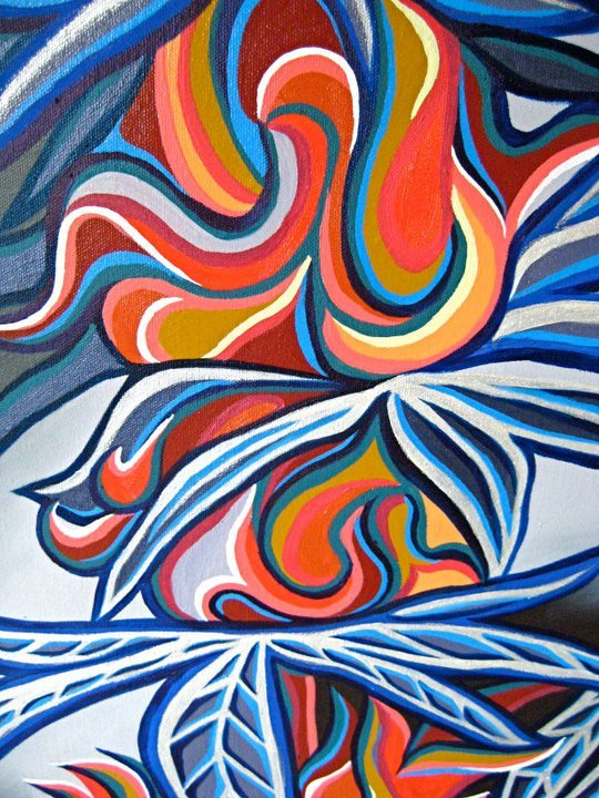 """Ganja"" close-up (15X30"" oil paints on canvas)"