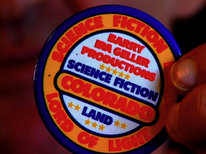 Original 1970s Science Fiction Land pin -- one of our great Kickstarter rewards!
