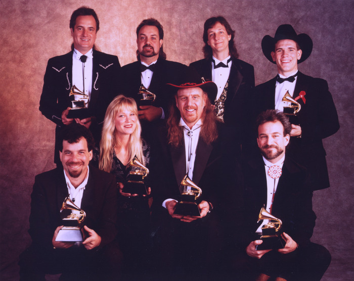 1990s Grammy Success (f: Lucky Oceans, Cindy Cashdollar, Ray Benson, Michael Francis, b: Tim Alexander, Tommy Beavers, David Miller, Jason Roberts)