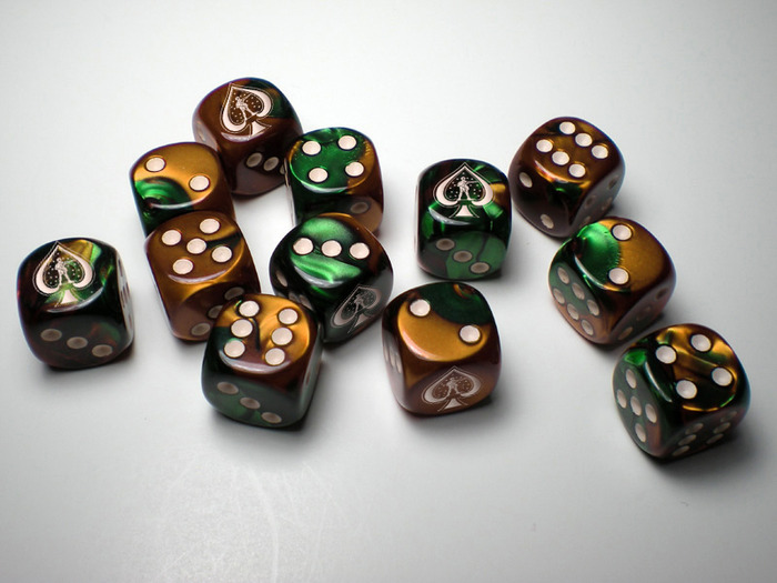 Artist Rendering of Custom Dice