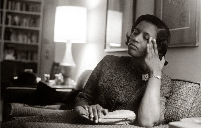 Myrlie Evers, widow of Medgar Evers