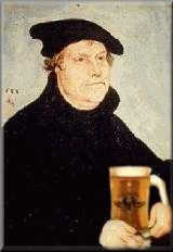 Rendering of Martin Luther, great reformer and theologian, with a beer!