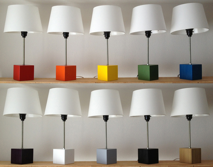 Block-Lamps: cheerful lamps in an array of 10 colors
