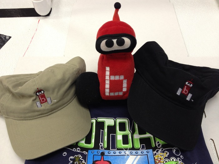 Here are images of the Botguy hat and Botguy plush.