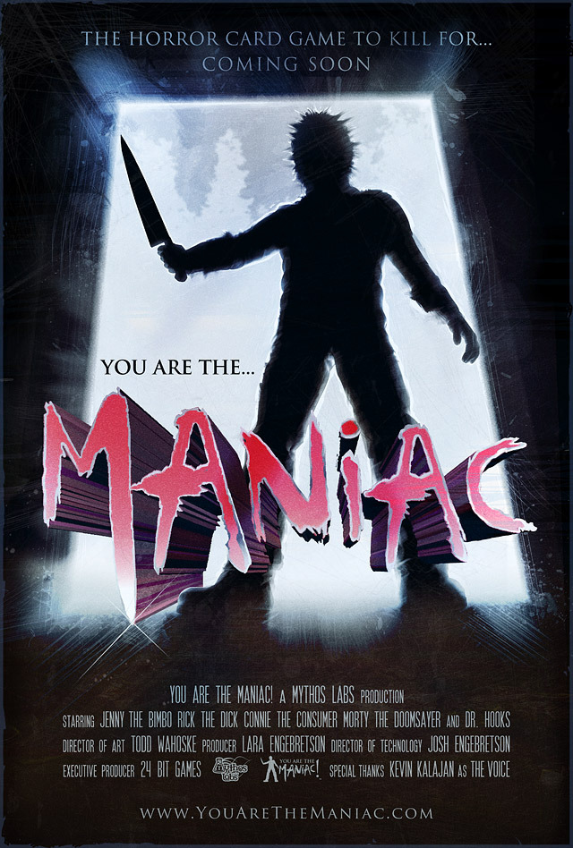 YOU are The Maniac! Retro-Nostalgia Poster Art