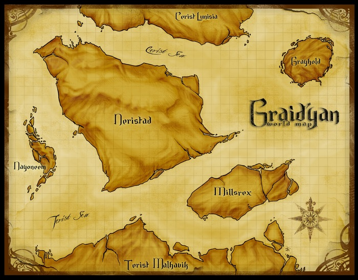 The World Map of Graid'yan by Jeff Stokely