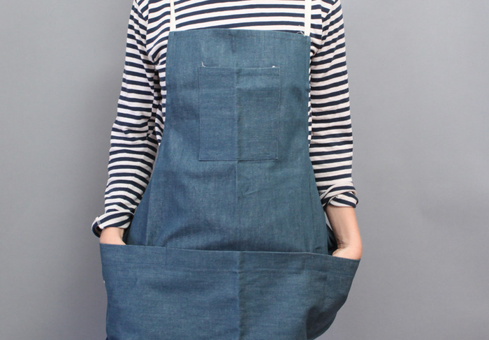 LDBA denim work apron