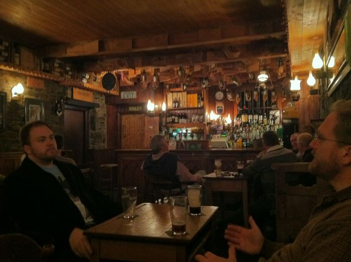 John and Ben Smith in Egan's Pub - Liscannor, County Clare, Ireland (Photo by Ben Duncan)