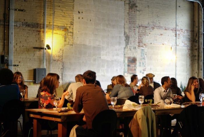 April dinner at MOCAD, Detroit. PHOTOGRAPHED BY KARPOV WRECKED TRAIN