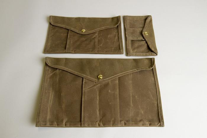 Utility Pouches, all three sizes in Ranger Tan