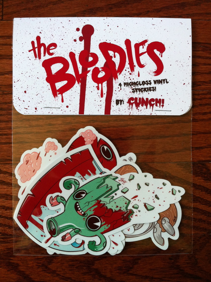 The Bloodies! Sticker set by JR Goldberg! Cover your stuff in BLOODS.
