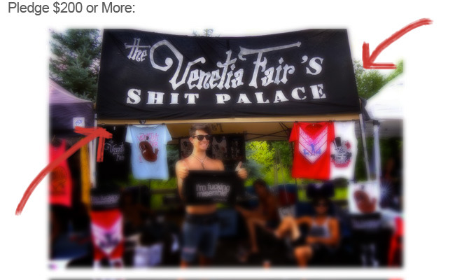 This is the banner we used all of Warped Tour 2011 at our merch tent. 1 available.