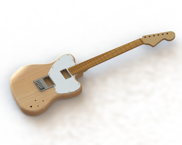 Digital Render of the Venture Anna-Lee, that killer guitar shown in our video!