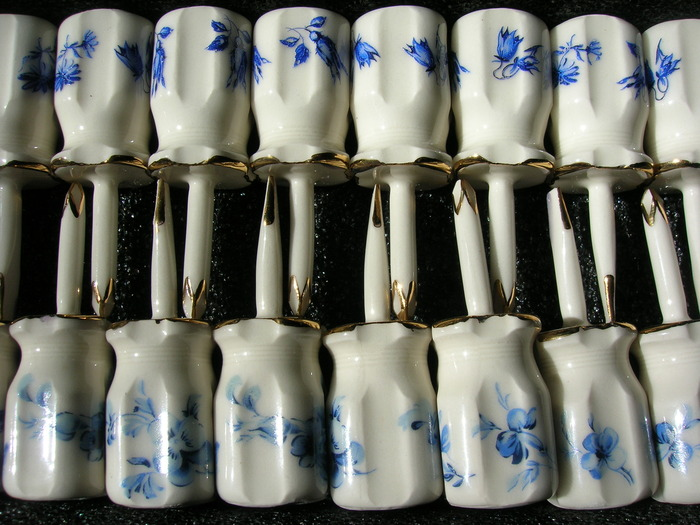Slip-cast porcelain screwdrivers by Jacki Whisenant '11 ($100 and $200 level)