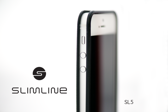 Slimline SL5 black on white iphone 5