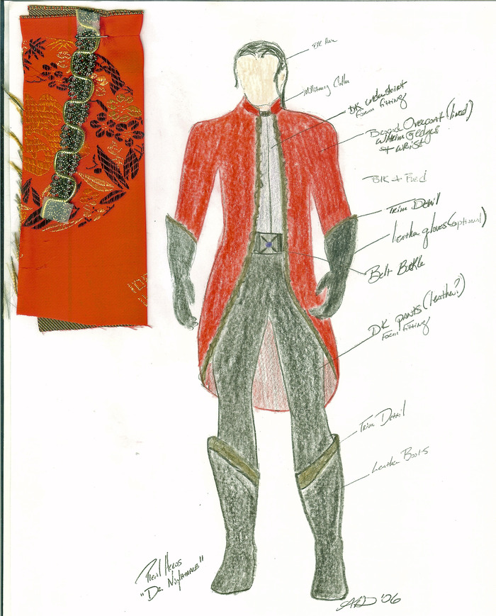 Costume Sketches-- Own the original hand-drawn sketches from our award winning costume designer, Andrea Davis. Includes all 16 of her original designs with attached fabric samples. One of a kind!