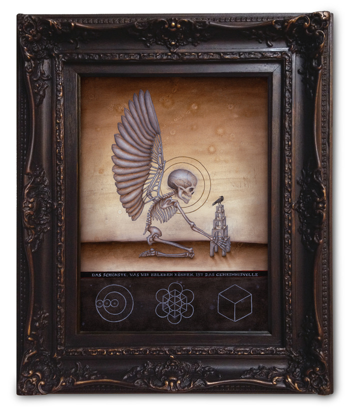 "Platinum Level 1: Soul of Science, Image Size 16""x12"", Oil on Wood, Sold Out"
