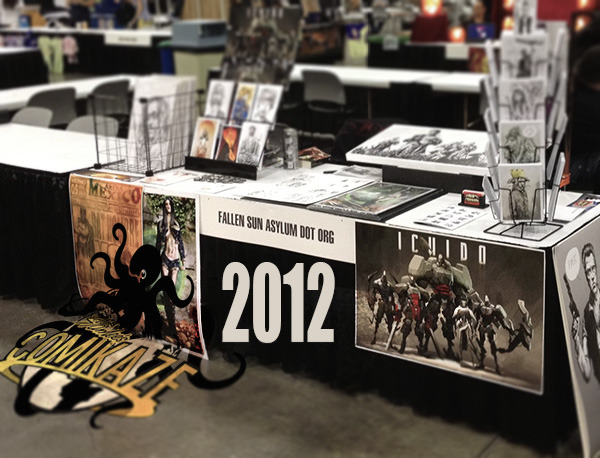 my table at Stan Lee's Comikaze at the Los Angeles Convention Center