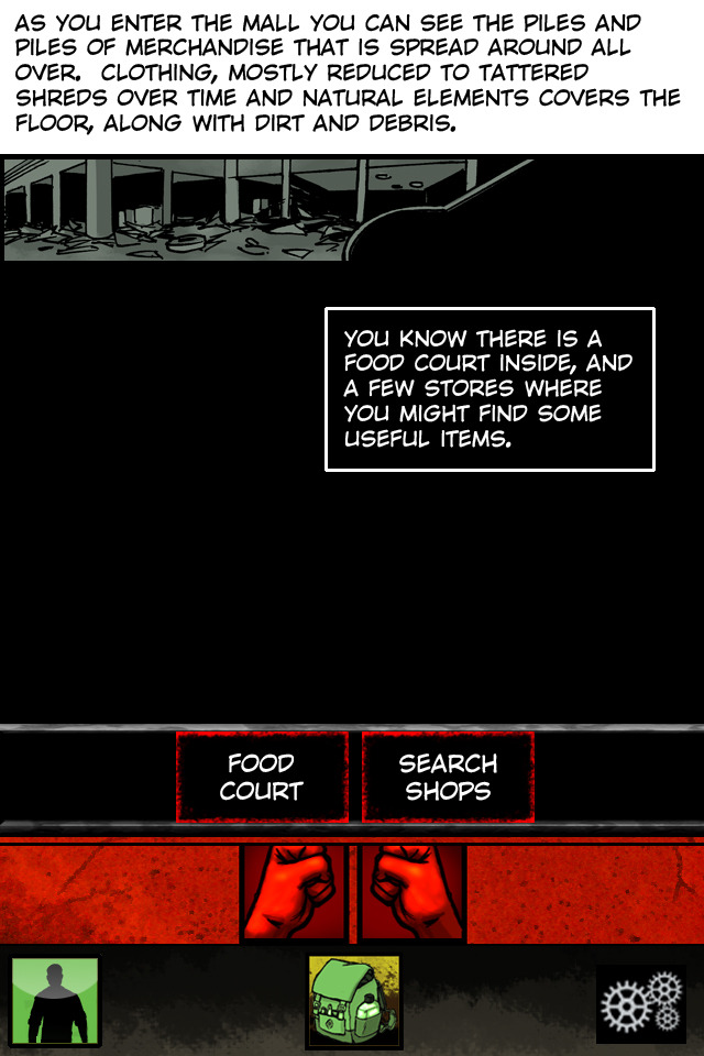 Screenshot: Encounter screen
